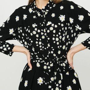 Maje Rafi Daisy Print Shirtdress